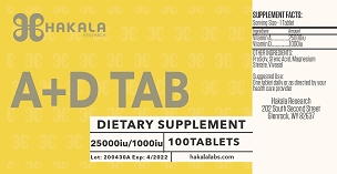 New Product Alert!  Vitamin A and D Tablet